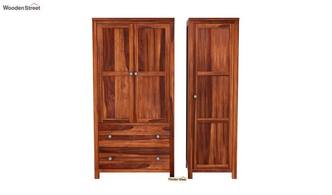 Zed Multi Utility Wardrobe (Honey Finish)-5