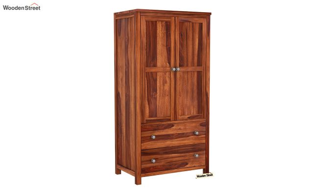 Zed Multi Utility Wardrobe (Honey Finish)-7