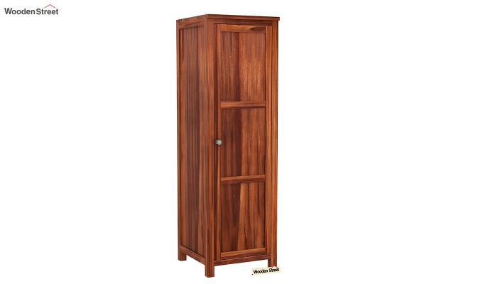 Zed Multi Utility Wardrobe (Honey Finish)-8