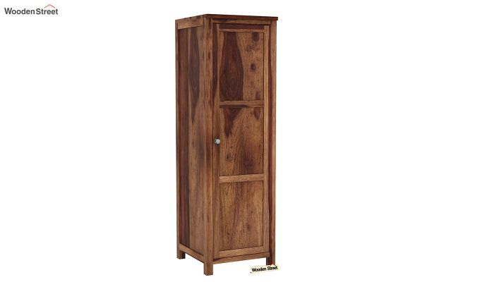 Zed Multi Utility Wardrobe (Teak Finish)-8