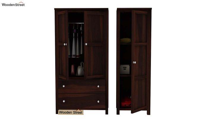 Zed Multi Utility Wardrobe (Walnut Finish)-6