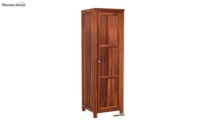 Zed 3 Door Multi-Utility Wardrobe with Mirror (Honey Finish)-7