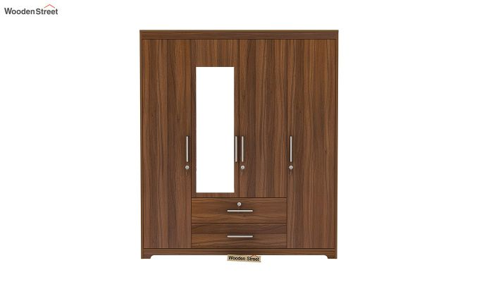 Alcott 4 Door Wardrobe with Mirror (Exotic Teak Finish)-4
