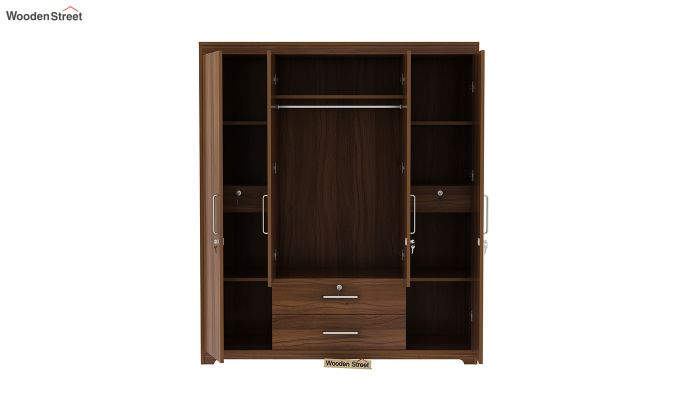 Alcott 4 Door Wardrobe with Mirror (Exotic Teak Finish)-6