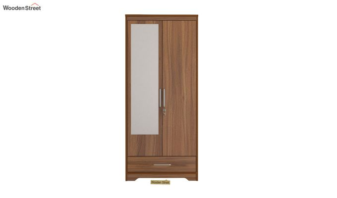 Aspen 2 Door Wardrobe with Mirror and Single Drawer (Exotic Teak Finish)-3