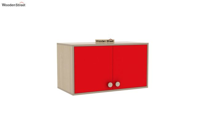 Cherry Study Table with Storage (Cardinal Red)-5