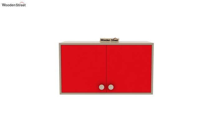 Cherry Study Table with Storage (Cardinal Red)-6