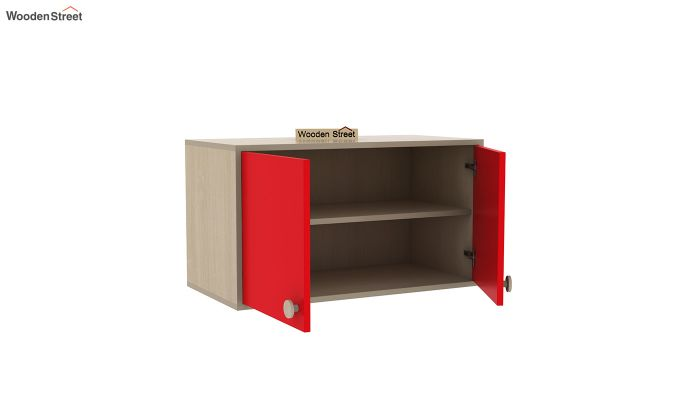 Cherry Study Table with Storage (Cardinal Red)-7