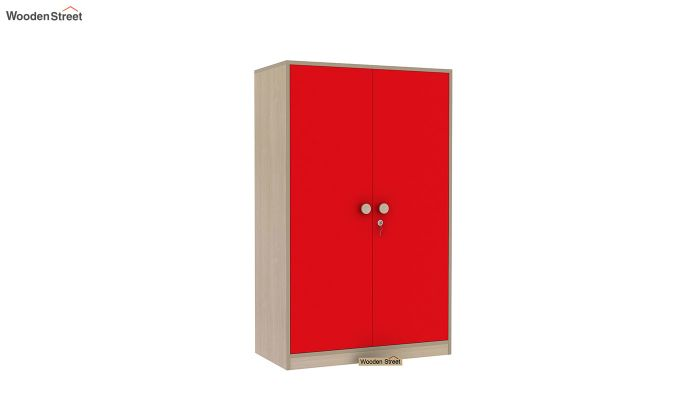 Cherry Multi-Utility Wardrobe with Study Table (Cardinal Red)-9