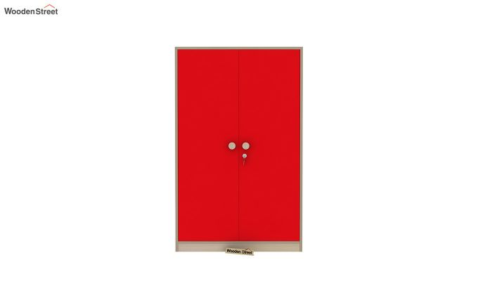 Cherry Multi-Utility Wardrobe with Study Table (Cardinal Red)-10