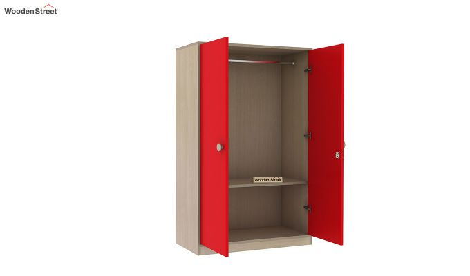 Cherry Multi-Utility Wardrobe with Study Table (Cardinal Red)-11