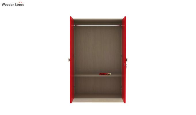 Cherry Multi-Utility Wardrobe with Study Table (Cardinal Red)-12