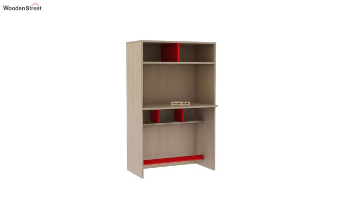 Cherry Study Table with Storage (Cardinal Red)-3