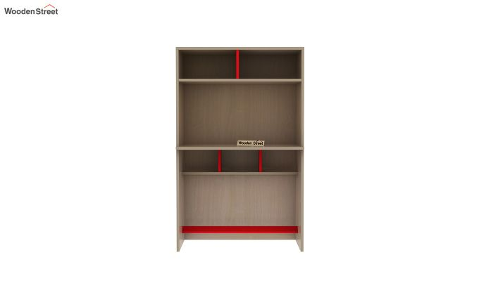 Cherry Study Table with Storage (Cardinal Red)-4