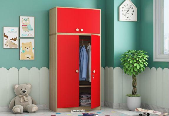 Cherry 2 Door Multi-Utility Wardrobe (Cardinal Red)