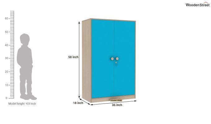 Cherry 2 Door Multi-Utility Wardrobe (Celestial Blue)-11