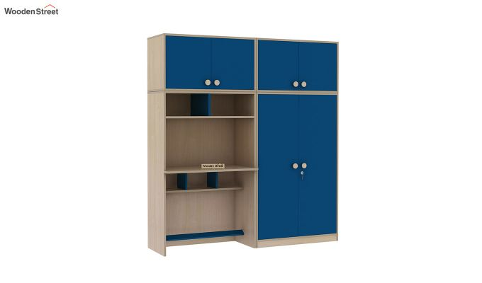 Cherry Multi-Utility Wardrobe with Study Table (Electric Blue)-5