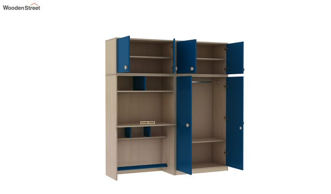 Cherry Multi-Utility Wardrobe with Study Table (Electric Blue)-8