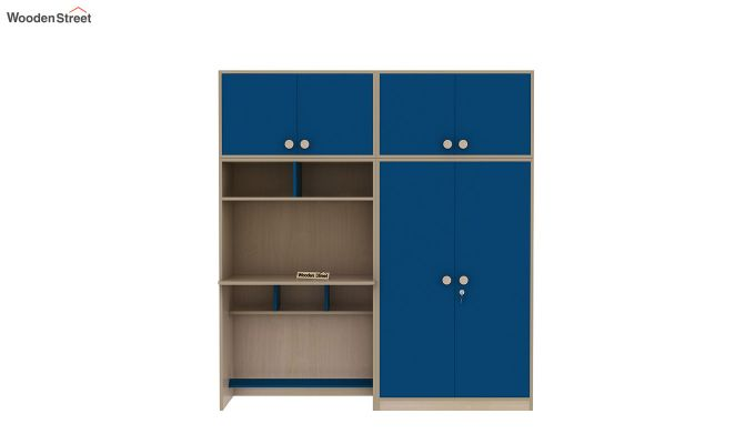 Cherry Multi-Utility Wardrobe with Study Table (Electric Blue)-6