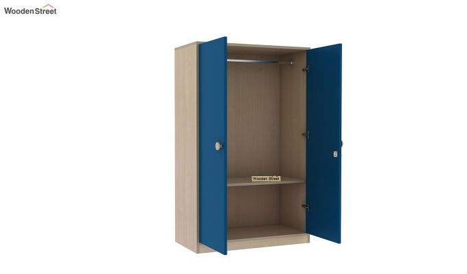 Cherry Multi-Utility Wardrobe with Study Table (Electric Blue)-11