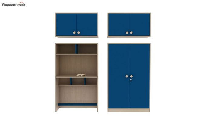 Cherry Multi-Utility Wardrobe with Study Table (Electric Blue)-13