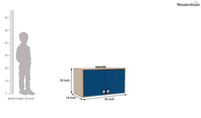 Cherry Study Table with Storage (Electric Blue)-8