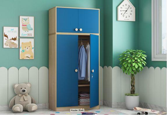 Cherry 2 Door Multi-Utility Wardrobe (Electric Blue)