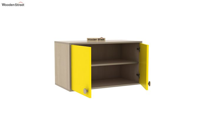 Cherry Study Table with Storage (Marigold Yellow)-7