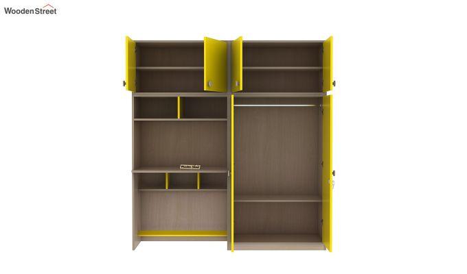 Cherry Multi-Utility Wardrobe with Study Table (Marigold Yellow)-8