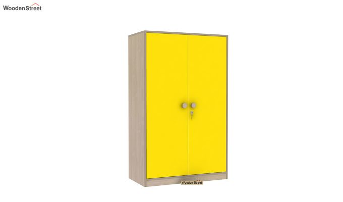 Cherry 2 Door Multi-Utility Wardrobe (Marigold Yellow)-3
