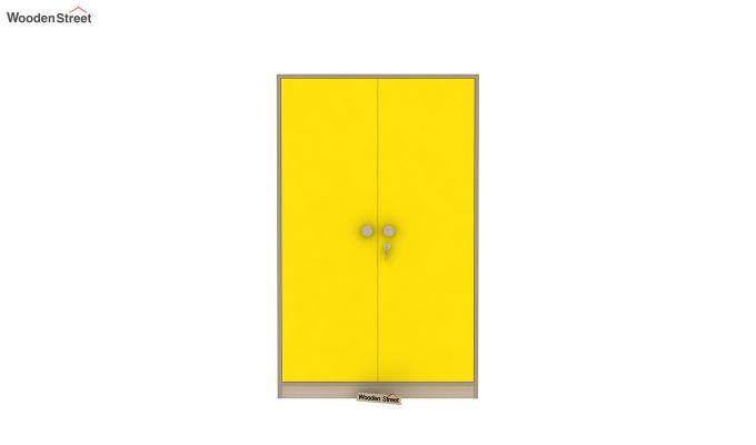 Cherry 2 Door Multi-Utility Wardrobe (Marigold Yellow)-4