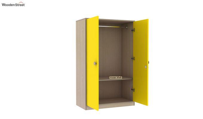 Cherry Multi-Utility Wardrobe with Study Table (Marigold Yellow)-11