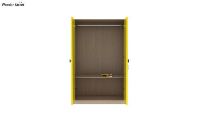 Cherry 2 Door Multi-Utility Wardrobe (Marigold Yellow)-6