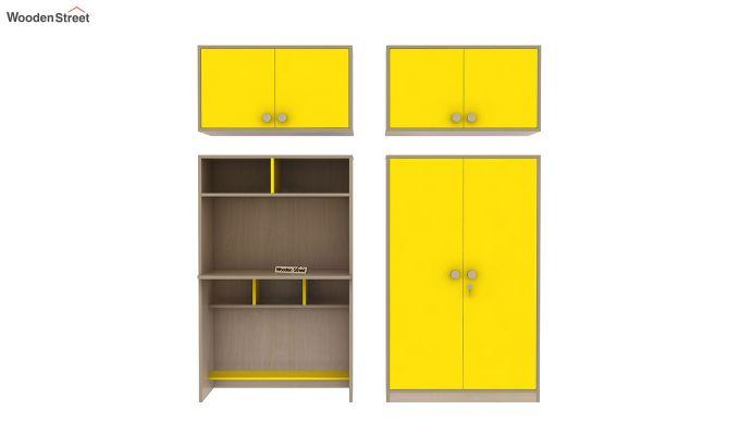 Cherry Multi-Utility Wardrobe with Study Table (Marigold Yellow)-13
