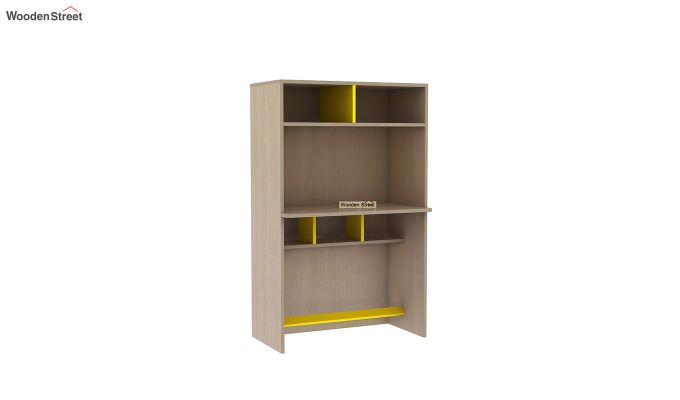 Cherry Study Table with Storage (Marigold Yellow)-3