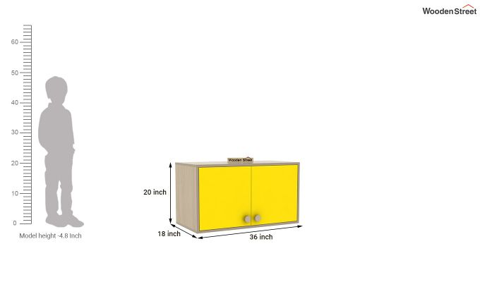 Cherry Study Table with Storage (Marigold Yellow)-8