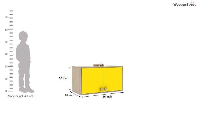 Cherry 2 Door Multi-Utility Wardrobe (Marigold Yellow)-10