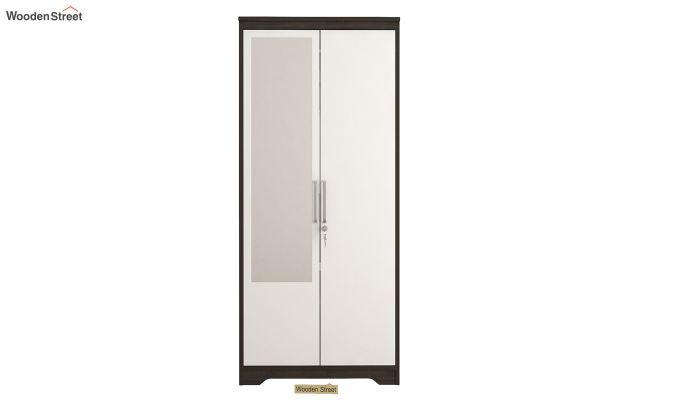 Denver 2 Door Wardrobe with Frosty White Door and Mirror (Flowery Wenge Finish)-3