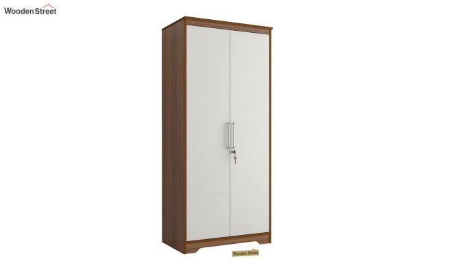 Denver 2 Door Wardrobe with Frosty White Door (Exotic Teak Finish)-2