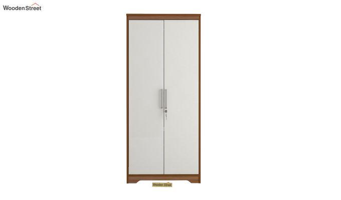 Denver 2 Door Wardrobe with Frosty White Door (Exotic Teak Finish)-3