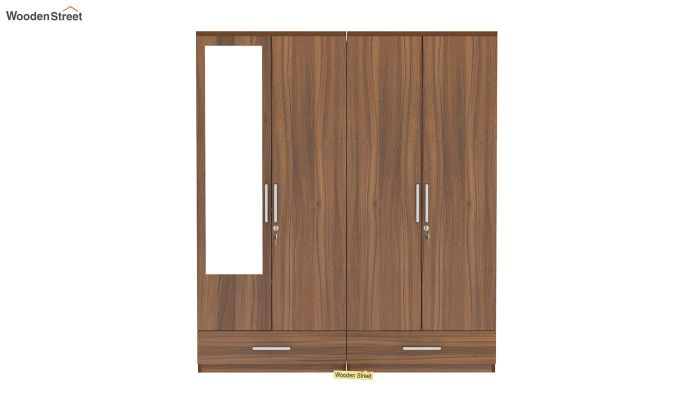 Valor 4 Door Wardrobe with Mirror (Exotic Teak Finish)-3
