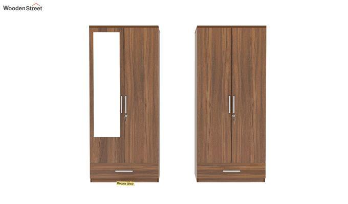Valor 4 Door Wardrobe with Mirror (Exotic Teak Finish)-5