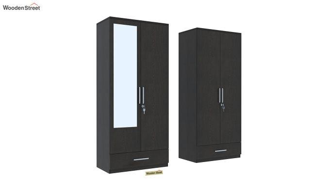 Valor 4 Door Wardrobe with Mirror (Flowery Wenge Finish)-4