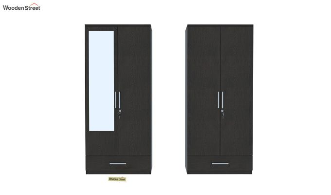 Valor 4 Door Wardrobe with Mirror (Flowery Wenge Finish)-5