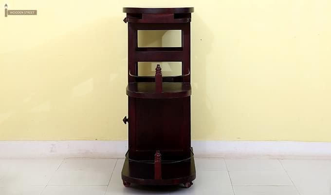 Slany Bar Trolley (Mahogany Finish)-7