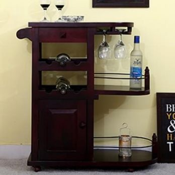 Amazing Wooden Bar Trolley Online for sale in India