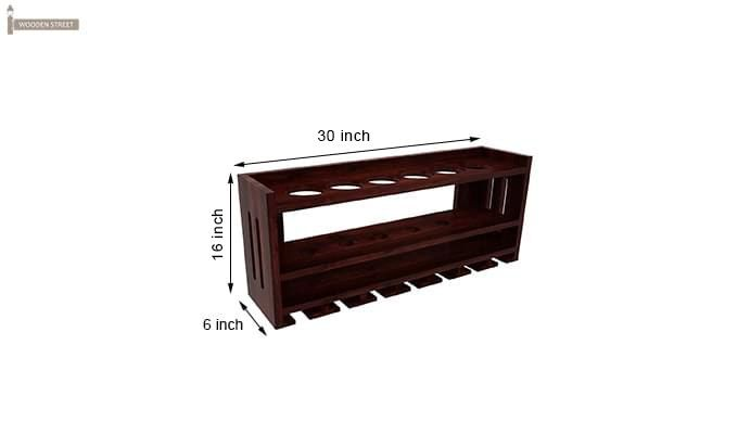 Elanor Wine Rack (Mahogany Finish)-5