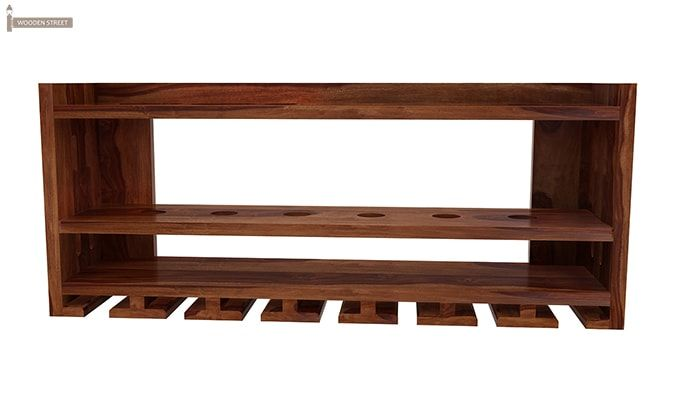 Elanor Wine Rack (Teak Finish)-3
