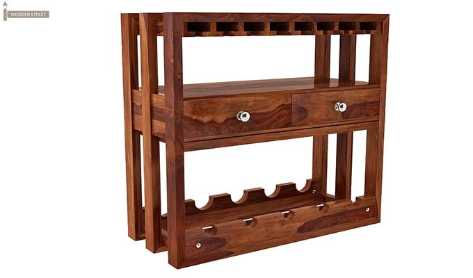 Ferris Wine Rack (Teak Finish)-2