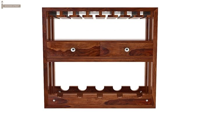 Ferris Wine Rack (Teak Finish)-3